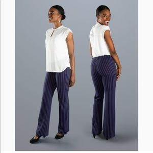BETABRAND double pinstriped dress pant yoga pant